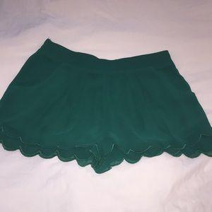 green Lush shorts